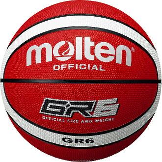熔融籃球號 6 球 x 白色 BGR6-RW GR6 國美籃子球紅球籃籃球熔 2013 年模型