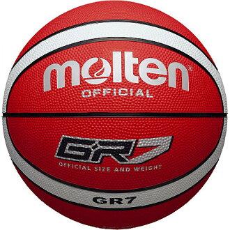 MOLTEN籃球7號球GR7橡膠籃球紅×白BGR7-RW籃球籃球molten 2013年型號