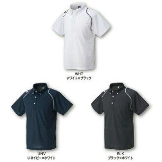 按鈕式馬球襯衫短袖排球練習穿 T 襯衫 / 排球 T 恤短袖 / 排球 T 襯衫可以馬球襯衫 / 可以 T 恤短袖 / 排球練習穿短袖 / 可以短袖子排球與室內排球了襯衫