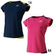 クーポン ミズノゲームシャツ バドミントン ソフトテニス レディース ユニフォーム パケット