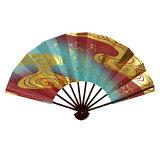 金流水雲(青/紫)☆舞扇子タメ塗骨♪送料無料セール【きょうと●0413】