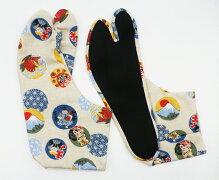 めでためでた4枚コハゼ柄足袋和柄日本製手づくり