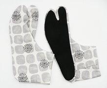 石だたみ4枚コハゼ柄足袋モダン日本製手づくり