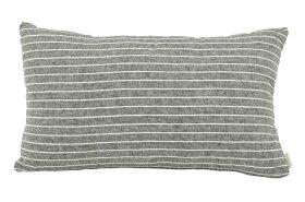 CHLOROSクロロス中綿付きのリネンカバークッション50×30cm長方形ネイビー【北欧モダンシンプル雑貨ナチュラルソファ】