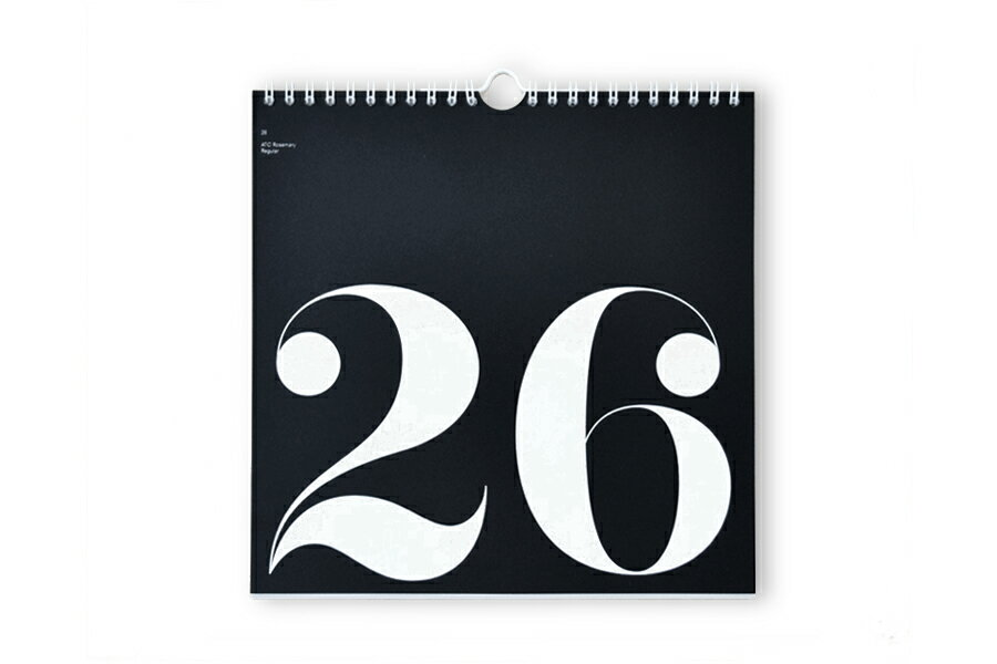 Nor-Folk 壁掛け 日めくりカレンダー Perpetual Type【イギリス ウォールデコレーション モノトーン】