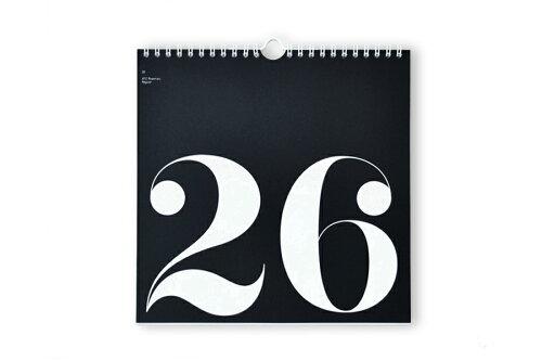 Nor-Folk 壁掛け 日めくりカレンダー Perpetual Type【イギリス ウォールデコレーション モノト...