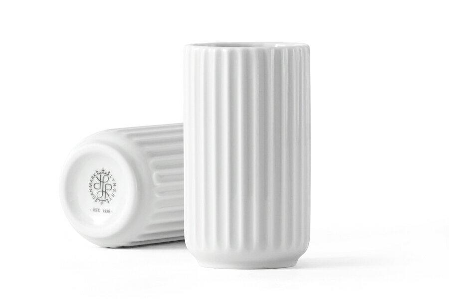 Lyngby Porcelain(リュンビュー・ポーセリン) ベース 8cm ホワイト【北欧雑貨 フラワーベース 花瓶 デンマーク 陶器 モダン リビング モノトーン おしゃれ】