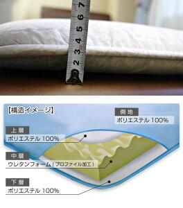 【送料込!】京都西川・圧縮タイプボリュームアップ三層式敷布団(4G7901)/シングルサイズ/敷き布団/しきふとん/凹凸プロファイル加工で体圧分散