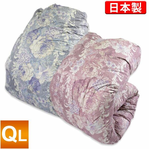 羽毛布団【モアレ】ポーランド産WGD93%[クイーンロング/増量]日本製羽毛掛けふとん/ホワイトグースダウン