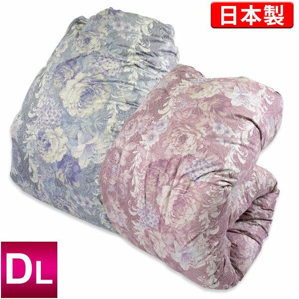 羽毛布団【モアレ】ポーランド産WGD93%[ダブルロング/標準量]日本製羽毛掛けふとん/ホワイトグースダウン