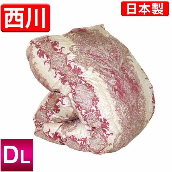 【昭和西川】2層式羽毛布団(フランス産ホワイトダックダウン90%)ダブルロング/側生地は綿100%