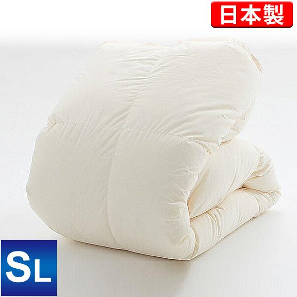 羽毛布団(ハンガリー産ホワイトダックダウン85%)シングルロング/キナリ/側生地も綿100%