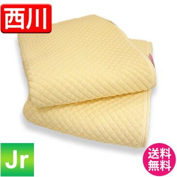 【送料無料】西川 シンカーポコポコ敷きパッド ジュニアサイズ 90cm×190cm 4隅ゴム付 シンカーパイル素材 綿 洗濯OK