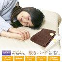 敷きパッド 送料無料 シングル 100cm×200cm 冬用 暖か BASICやわらかマイクロファイ