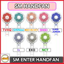 SM ARTIST OFFICIAL HANDY FAN TVXQ! SUPERJUNIOR SNSD SHINee F(x) EXO REDVELVET NCT [SM TOWN] 公式グッズ OFFICIAL MD