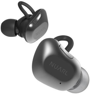 【送料無料】 NUARL(ヌアール) NT01 Bluetooth(ブルートゥース)/完全ワイヤレス/IPX4耐水/5h再生/マイク付/軽量5g/左右独立ステレオイヤホン【ブラックシルバー】