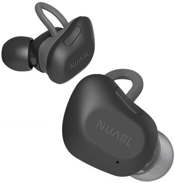 【送料無料】 NUARL(ヌアール) NT01 Bluetooth(ブルートゥース)/完全ワイヤレス/IPX4耐水/5h再生/マイク付/軽量5g/左右独立ステレオイヤホン【マットブラック】