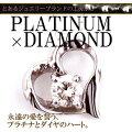 プラチナ/Pt900/850 0.1ct ダイヤモンド ペンダント