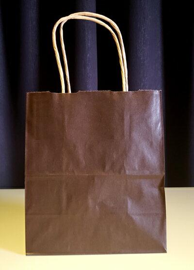 手提げ 紙袋 ギフト向け ショッピングバッグ お持ち帰り 【サイズ】幅180mm×マチ100mm×高さ210mm チョコ色