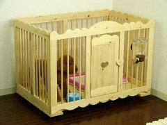 かわいい ケージ ゲージ 犬小屋 犬用 サークル 木製 安心安全 ハート ハンドメイド ...