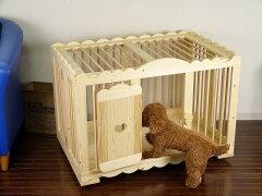 犬 ゲージ ケージ サークル 木製 折り畳み キャスター付 ドッグハウス かわいい 手作り ペ…