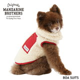 犬服ジャケットボアベストニットクラシックベストドッグウェア犬の服タートルネック秋冬MANDARINEBROTHERS/