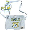サコッシュ ショルダーバッグ お散歩バッグ 肩掛け 簡易バッグ ユニセックス メンズ レディース 犬 UCLA.SACOCHE(LIGHT BLUE)