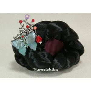 Corée Kochi No77 Raden papillon et épingle à cheveux corail Kochi bleu ■ cochi-77-s [cadeau] [souvenir]