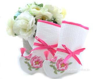 韓国1歳お誕生用刺繍子供足袋・女の子牡丹(タレポソン)■kodomo-poson-7-s【ギフト】【御百日祝】【誕生祝】