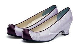 チマチョゴリの靴韓服靴 コンダンコッシン 45薄紫×紫■kotshin-8rpp-s