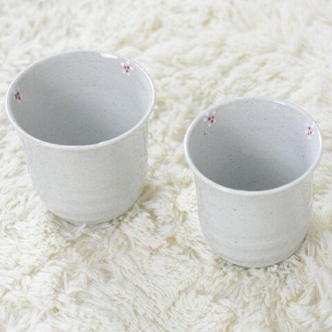 韓国茶器白磁花夫婦湯呑セット (2客)■chaki-25-s【ギフト】【お土産】【長寿祝】【引出物】