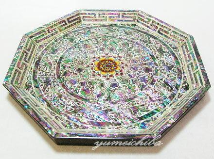 韓国八角更紗螺鈿お盆■obon-6-s【ギフト】【お土産】【長寿祝】【引出物】