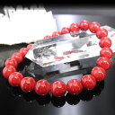 赤サンゴブレスレット 8mm珠 (赤珊瑚、レッドコーラル、Red Coral) ※...