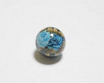 天然石プリントビーズ オニキス 10mm (ブルーローズ) アクセサリーパーツ アクセサリー パワーストン ヒーリング 日本製