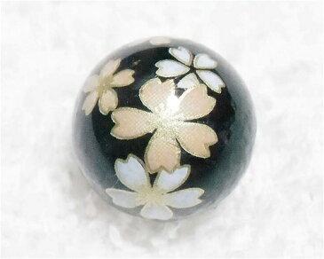 天然石プリントビーズ オニキス 14mm (桜) アクセサリーパーツ アクセサリー パワーストン ヒーリング 日本製