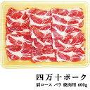 四万十ポーク 窪川ポーク 肩ロース・バラ 焼肉セット 約600g 高知産 豚肉 ポーク 焼肉 ...