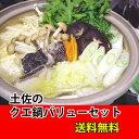 ★送料無料!土佐の「くえ鍋」水炊きバリューセット【土佐のアイスクリン付き】★