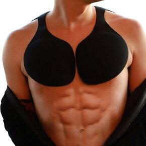 Cholmo(チョロモ)ミライ筋パットピタッと貼るだけでボリュームアップ未来の理想の筋肉にモテマッチョに変身胸筋パットSSベージュブラックフリーサイズ