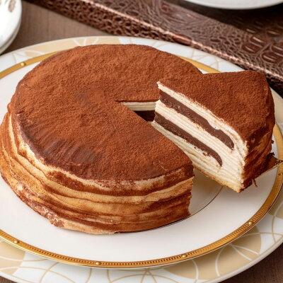 敬老の日 2021 チョコ スイーツ プレゼント ギフト 2020 ミルクレープ バースデーケーキ 誕生日ケーキ ミルクレープホール 内祝い 手作り 誕生日 もっちり食感の手作りミルクレープ 生チョコ...