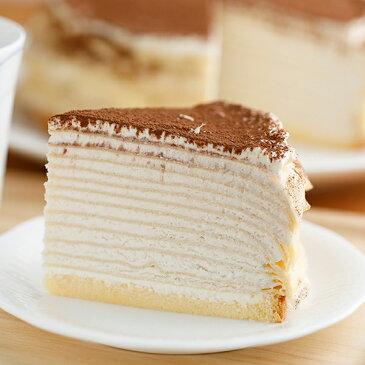 バレンタイン ミルクレープ スイーツ バースデーケーキミルクレープ 誕生日ケーキ カットケーキ 内祝い ギフト カフェモカ 出産内祝い 手作り もっちり食感の手作りミルクレープカフェモカミルクレープ6個入り 送料無料