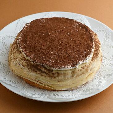 バレンタイン チョコ 2020 ミルクレープ スイーツ バースデーケーキ 誕生日ケーキ ミルクレープホール 内祝い ギフト 手作り 誕生日 もっちり食感の手作りミルクレープ 生チョコミルクレープ1ホール