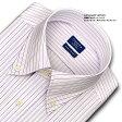 【日清紡アポロコット】【COOL CONSCIOUS】長袖・綿100%形態安定・ピンストライプ・ボタンダウン・ドレスシャツ・CHOYAシャツCHOYA SHIRT FACTORY(cfd321-410)