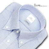 SHIRT MAKER CHOYA Shiwanon 長袖 ワイシャツ メンズ 春夏秋冬 標準体 形態安定 ブルードビー ボタンダウンシャツ | 綿:50% ポリエステル:50% ブルー 高級 上質 (cmd721-650)(190904ss)