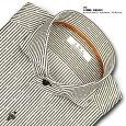 SMC日本製生地・形態安定加工ロンドンストライプ・カッタウエイ・ドレスシャツSHIRTMAKERCHOYA(ビジネスシャツ/ワイシャツ/百貨店)(cmd811-475)