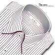 SMC 日本製生地・形態安定加工ペンシルストライプ・スナップダウン・ドレスシャツ SHIRT MAKER CHOYA(ビジネスシャツ/ワイシャツ/百貨店)(cmd814-415)