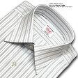 SHIRT MAKER CHOYA綿100%:日本製生地/日本縫製モノトーンストライプ・レギュラーカラー・ドレスシャツCHOYA1886(cvd771-485)