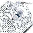 LORDSON綿100% 形態安定加工 標準体ダブルストライプ・レギュラーカラー・ドレスシャツ(zod900-455)