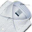 LORDSON綿100% 形態安定加工 標準体ペンシルストライプ・ワイドカラー・ドレスシャツ(zod901-450) [コンビニ受取対応商品][楽天カード分割]
