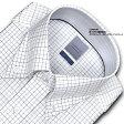 【LORDSON】長袖 綿100% 形態安定加工 標準体グラフチェック・ボタンダウンCHOYAシャツ/ドレスシャツ/ワイシャツ/Yシャツ/ビジネスシャツ/メンズ(zod911-655)