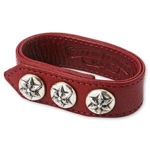 【CHROME HEARTS クロムハーツ Bracelet ブレスレット】3ボタン2スナップレザーブレスレット...
